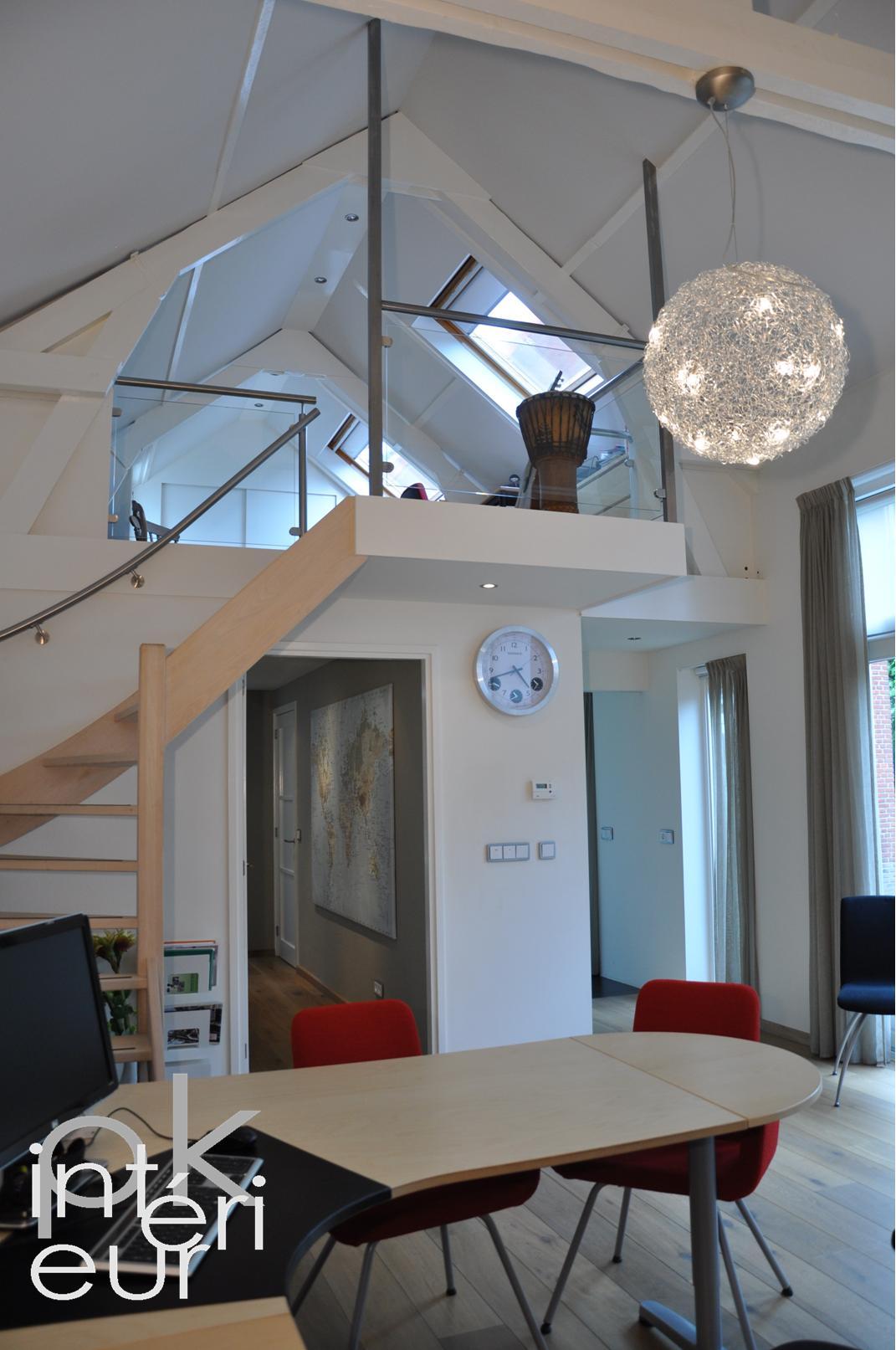 Interieurarchitectuur kantoorruimte eenmanszaak compleet ontwerp voor de herstructurering van - Mezzanine verlichting ...