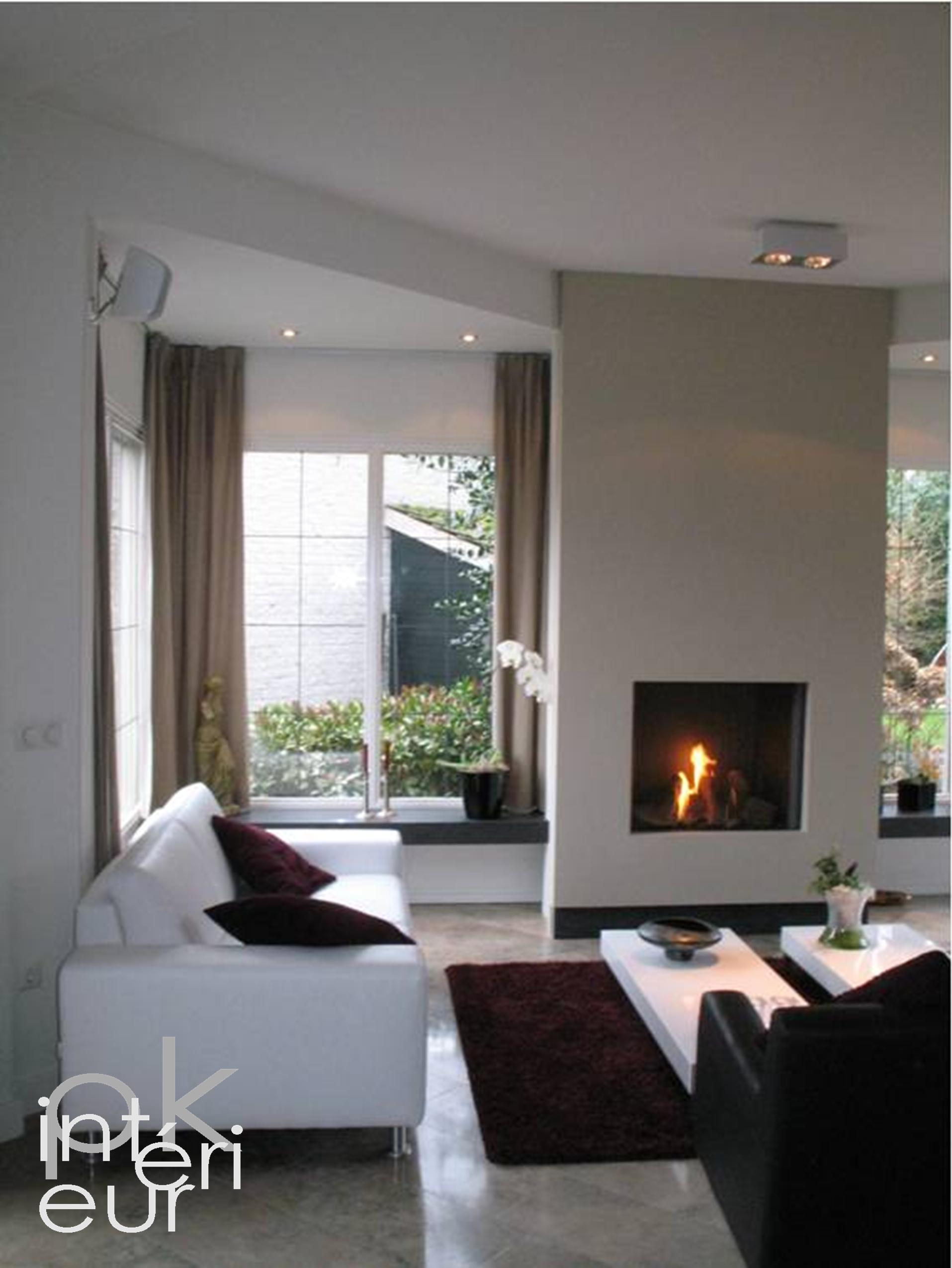 Pk interieur design ontwerp inrichting en advies voor uw woonkamer met haard in den bosch for Deco van woonkamer design